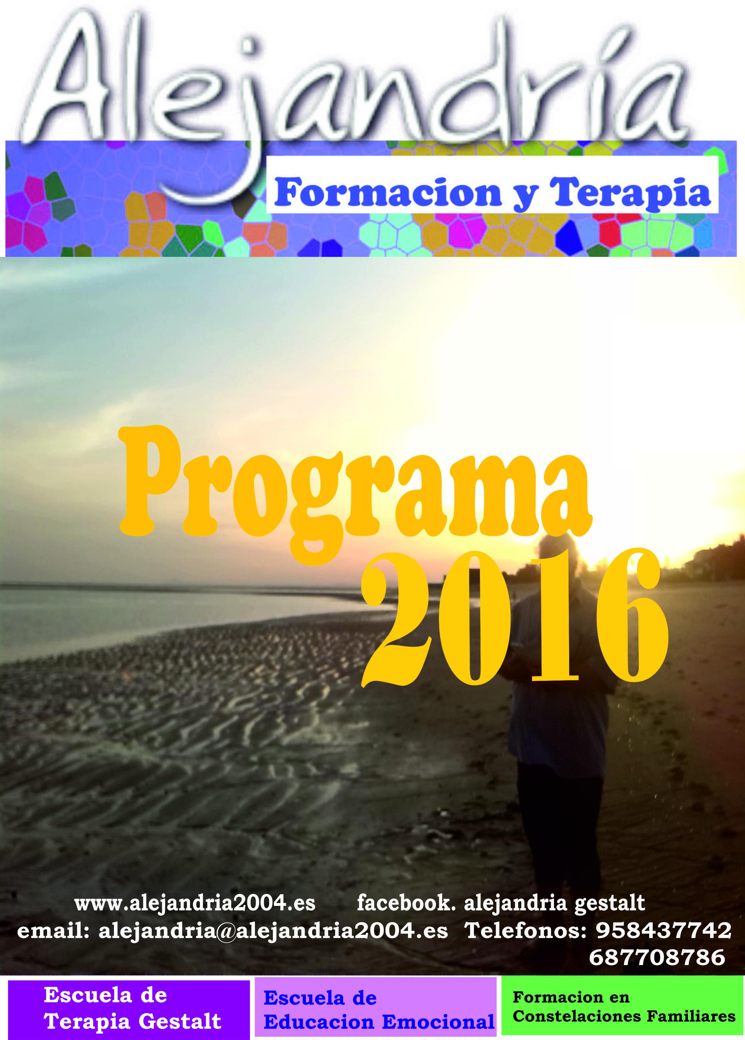 REVISTA ALEJANDRIA 2016, Terapia Gestalt, Educación Emocional…